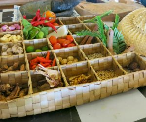 Tray of wonders before our cooking class