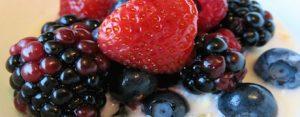 selection of fresh berries at Shangri-La Jakarta