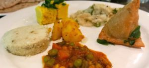 selection of vegan curries at Shangri-La Jakarta