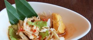 Spicy 'asinan betawi' salad in the Horizon Club