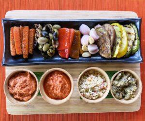 vegan mezze platter at Six Senses Con Dao