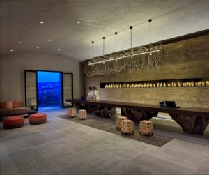 modern and stylish reception at Six Senses Douro Valley