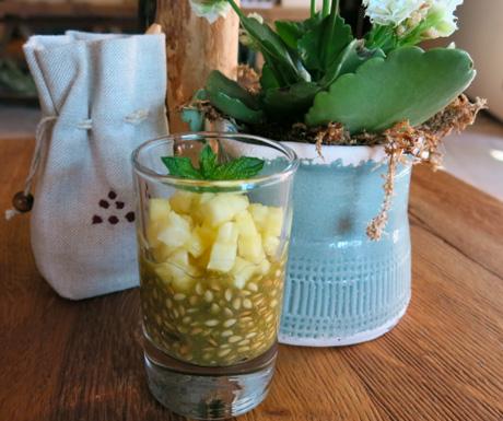 Super healthy flax seed pots at Six Senses Douro Valley