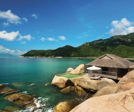 water villa at Six Senses Ninh Van Bay