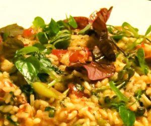 vegan risotto at The Nam Hai