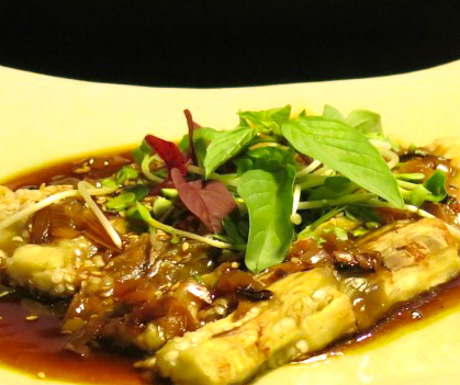 vegan braised eggplant at The Nam Hai