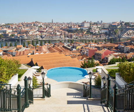view over Porto from The Yeatman