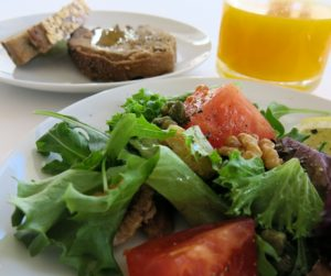 salad, fresh bread and freshly squeezed orange juice for breakfast at The Yeatman