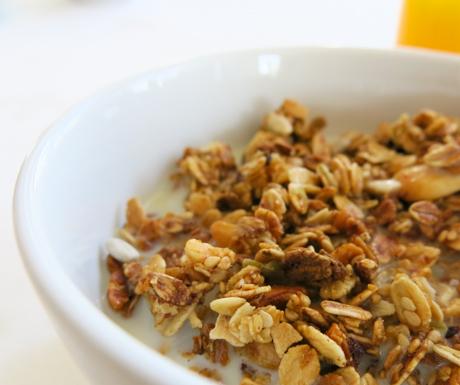homemade muesli and soya milk at The Yeatman