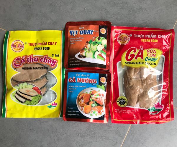 Au Lac vegan groceries in Hanoi
