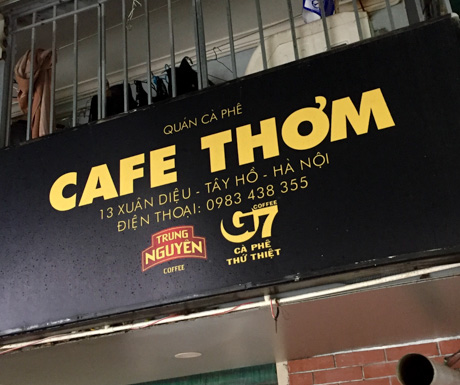 Cafe Thom in Hanoi at West Lake