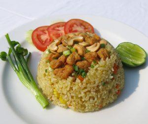 vegan fried rice with cashews at Centara Resort Trat