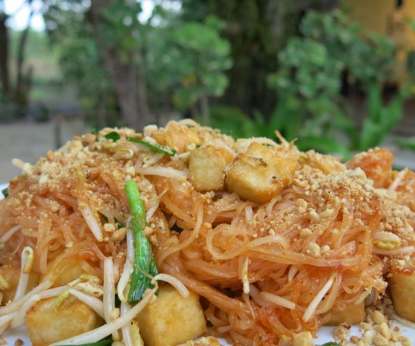 vegan pad Thai at Centara Resort Trat