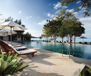 ocean front swimming pool at Centara Resort Trat