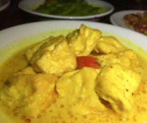 Tempeh Curry at Junis in Hanoi