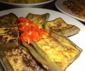 Eggplant at Junis Indonesian in Hanoi