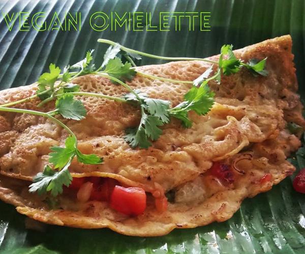 Masala Dosa Street Kitchen vegan omelette