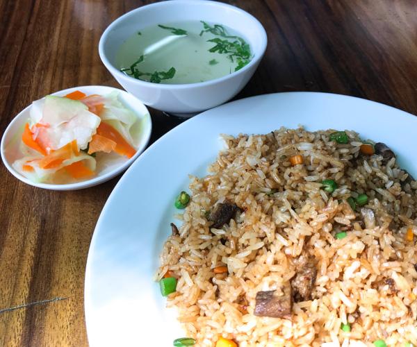 Mercy House Phnom Penh vegan fried rice