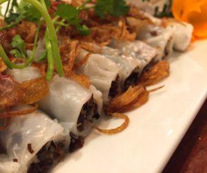 delicious fresh rice paper rolls in Hanoi