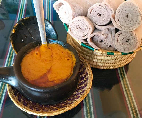 Saras Ethiopian vegan food