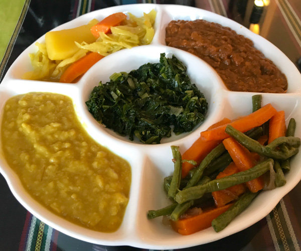 Saras Ethiopian vegan food 1