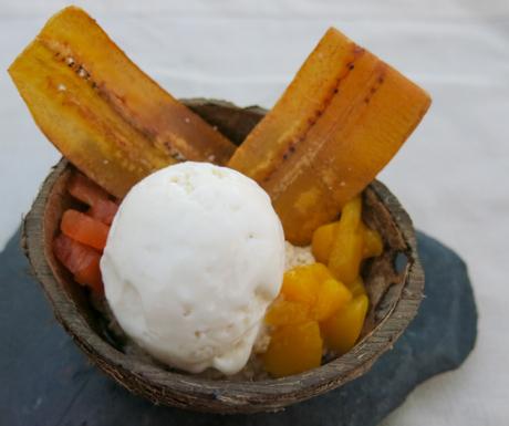 Vegan dessert at Terroir
