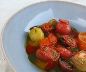 Tomatoes 'Sao Joao' tomatoes, peppers, onions
