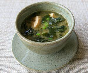 vegan miso soup at Templation