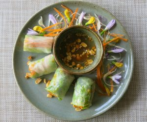 fresh spring rolls at Templation