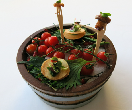 Summer Garden in a wine barrel