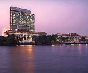 View of Anantara Riverside Bangkok Resort from the river
