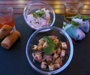 Tofu larb at Anantara Riverside Bangkok Resort