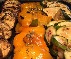 Grilled vegetables at Anantara Riverside Bangkok Resort