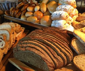 Freshly baked vegan bread at Anantara Riverside Bangkok Resort