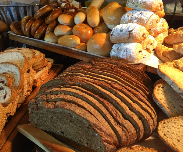 Freshly baked vegan bread at Anantara Riverside Bangkok Resort
