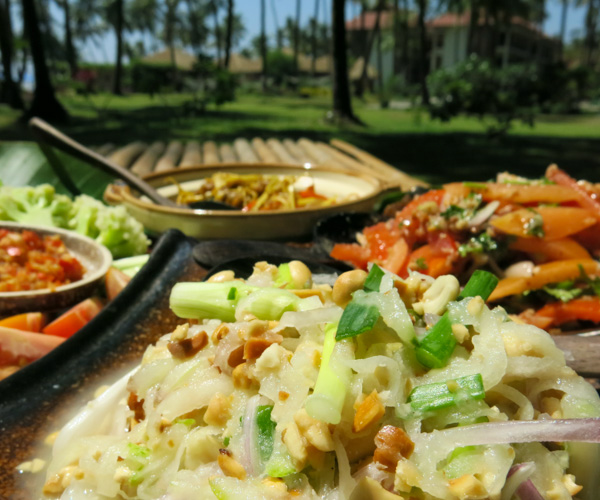 vegan organic food at Eskala Resort