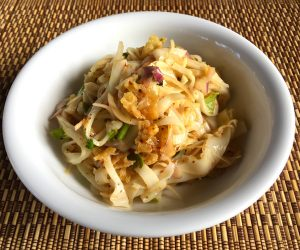 vegan noodles for breakfast at Eskala Resort