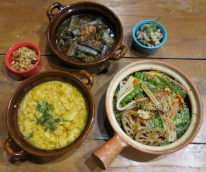 Selection of vegan food at Hilton Mandalay