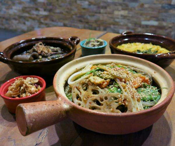 Vegan food at Hilton Mandalay
