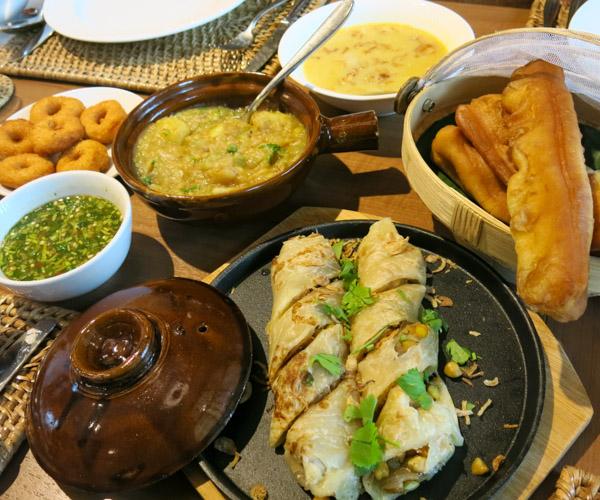Vegan breakfast in Bungkus at Hilton Mandalay