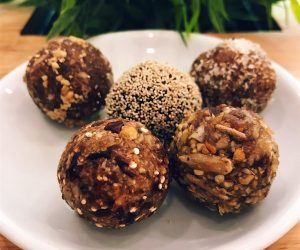 Vegan bliss balls at Nourish Cafe Yangon