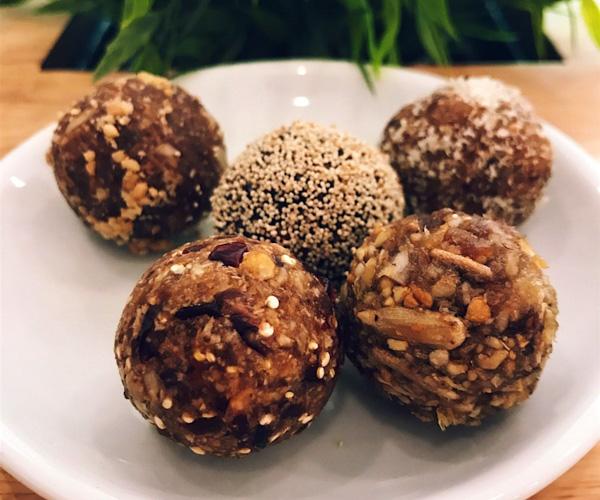 Vegan bliss balls at Nourish Cafe Yangon