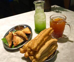 tea, juice and vegan snacks in Yangon
