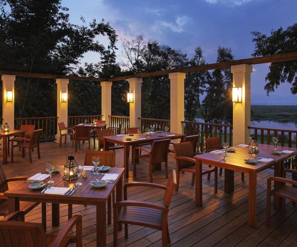 Al Fresco dining at Sanctum Inle Resort