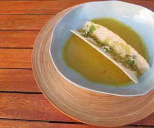Vegan soup at Sanctum Inle Resort