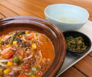 Vegan curry at Sanctum Inle Resort