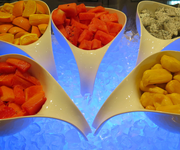 Fresh fruit for breakfast at Sule Shangri-La Yangon