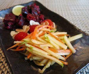 Apple and beetroot salad at Sule Shangri-La Yangon
