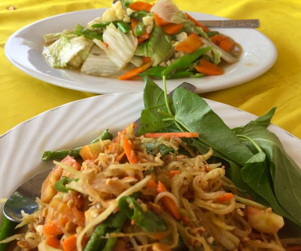 Vegan food at Si Thu Restaurant