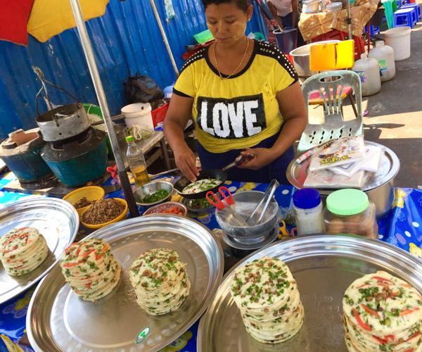 vegan street food in Yangon